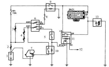 55 Топливный насос и давление топлива Тойота Королла 1992 - 98 2Е, 4E-FE, 4А-FE, 7А-FE 3 Схема цепи питания...