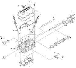 Daewoo Matiz Дэо Матиз.  3 Разборка.  8 Ремонт головки блока цилиндров.  Рис. 3.44.