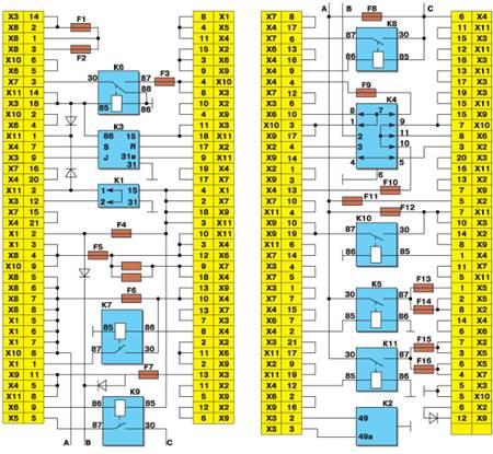 схема на москвич 2141
