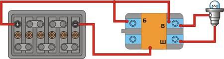 """Схема проверки интегрального регулятора напряжения на АЗЛК 2141. а - одновременно  """"отрицательных """" и  """"положительных """"..."""