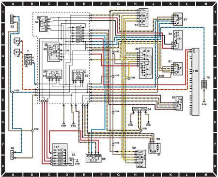 Звуковой сигнал, обогреватели стекол, электропривод зеркал Ford Escort.